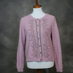 NWOT Sundance Catalog cotton beaded cardigan M